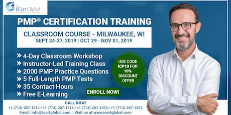 PMP® Certification Training Course in Milwaukee, WI, USA | 4-Day PMP® Boot Camp with PMI® Membership and PMP Exam Fees Included. tickets