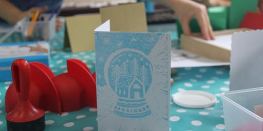 Festive Lino Printing at Sift: Cafe & Bakery
