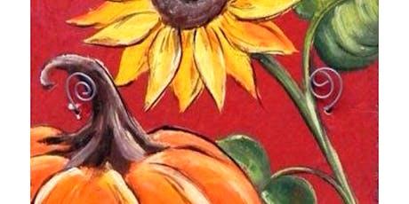 'Pumpkin & Sunflower ' Sip & Paint Workshop tickets