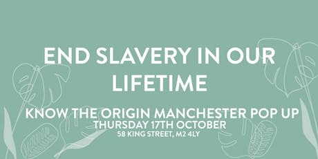 End Slavery In Our Lifetime (Know The Origin Panel) tickets