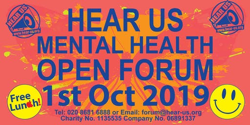 Hear Us Mental Health Open Forum