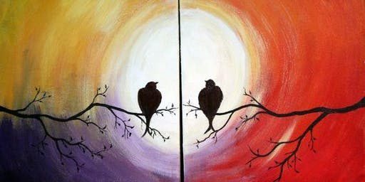 Date night, Pair-up Painting, Sip & Paint Workshop