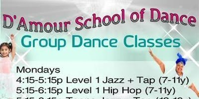 "D'Amour School of Dance ""Group Dance Classes"