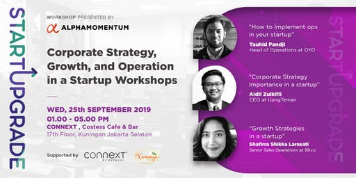 StartUpgrade :  Corporate Strategy, Growth and Operation workshop