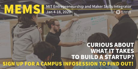 MEMSI 2020 Info session at HKU tickets