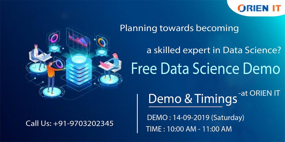 Free Data Science Workshop in hyderabad at Orien IT on 14th