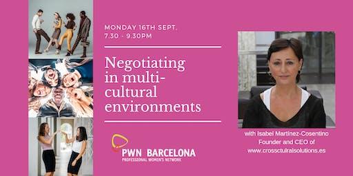 Negotiating in multi-cultural environments