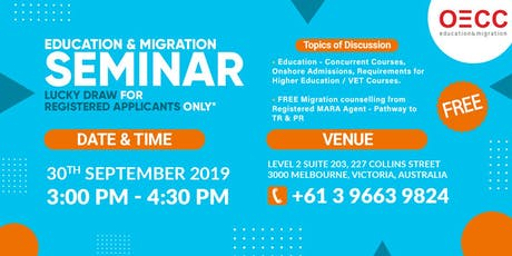 FREE Education and Migration tickets