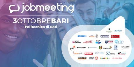 Job Meeting BARI: il 3 Ottobre incontra le aziende che assumono! biglietti
