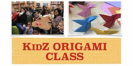 KidZ ORIGAMI CLASS tickets