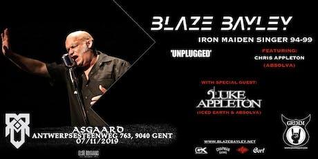 "Blaze Bayley /w Chris Appleton ""Unplugged"" + Support : Luke Appleton tickets"
