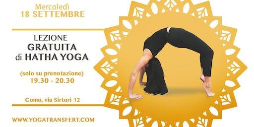 Lezione di Yoga Gratuita