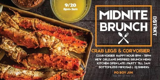 Crab Legs & Courvoisier-MidNite Brunch!
