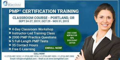 PMP® Certification Training Course in Portland, OR | 4-Day PMP® Boot Camp with PMI® Membership and PMP Exam Fees Included.