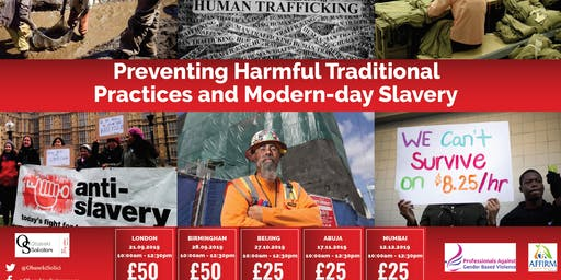 Preventing Harmful Traditional Practices and Modern-day Slavery