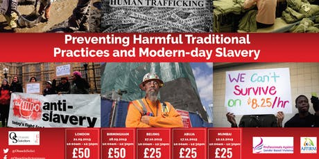 Preventing Harmful Traditional Practices and Modern-day Slavery tickets