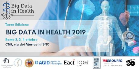 Big Data in Health 2019 biglietti