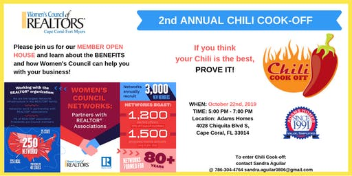 2nd Annual Chili Cook-Off, Membership Drive & Orientation