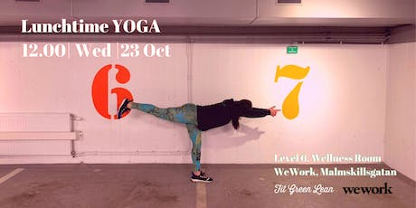 LUNCHTIME Yoga - with Fit Green Lean @WeWork tickets