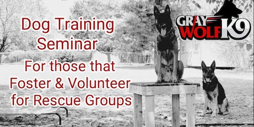 Dog Training Seminar For Fosters & Volunteers of Rescue Groups
