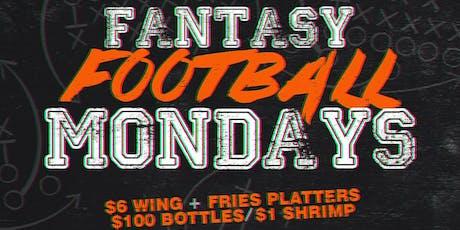 Fantasy Football Monday's September 16th 2019 tickets