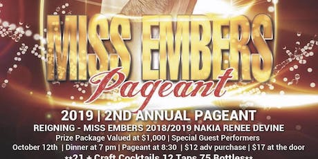 Miss Embers 19/20 tickets