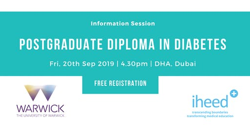 Pg Diploma Diabetes: University of Warwick - Info Session - Dubai Sep 2019