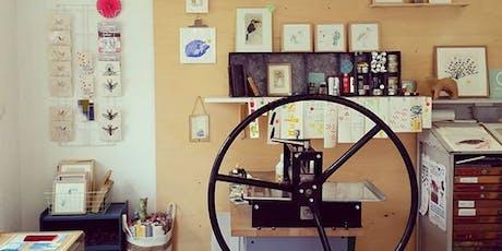 Fête de la science numérique - atelier gravure billets