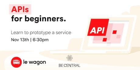 Basics of APIs tickets