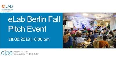 eLab Berlin Fall Pitch Event