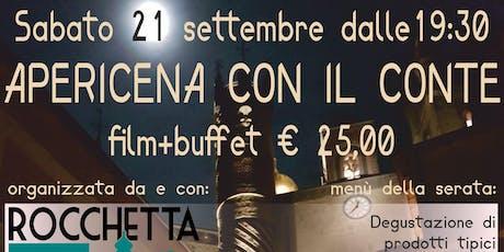 """Apericena con il Conte: in Rocchetta Mattei """"Il Conte Magico"""" con buffet biglietti"""