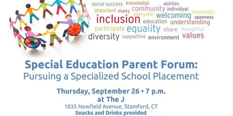 Special Education Private School Forum at the Stamford JCC tickets