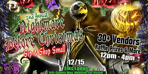 2nd Annual Nightmare Before Christmas Sip & Shop Small