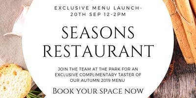 Seasons at The Park - Autumn Menu Launch