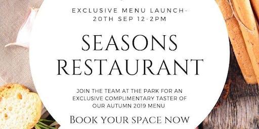 Seasons at The Park - Autumn Menu Launch