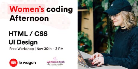 Women coding afternoon - November edition tickets