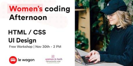 Women coding afternoon - November edition billets