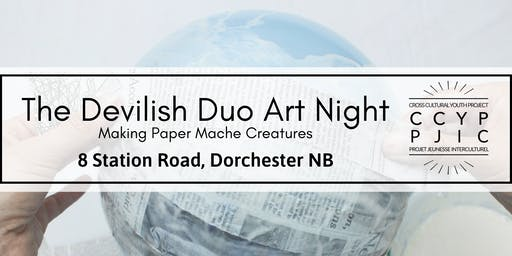The Devilish Duo Art Night