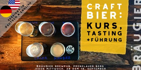 Craft Beer: Course, Tasting & Brewery Tour (Deutsch & English) tickets