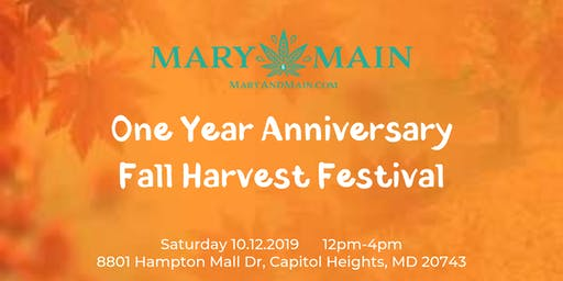 One Year Anniversary Fall Harvest Festival