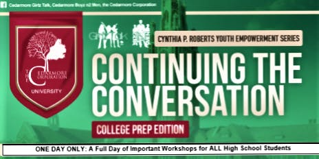 COLLEGEOLOGY: College Prep Workshop for High School  Students