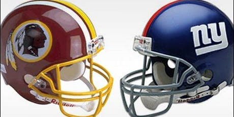 Redskins vs Giants tailgate party tickets