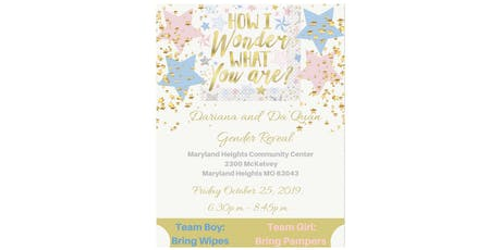 Dariana and Da' Quan Gender Reveal Tickets