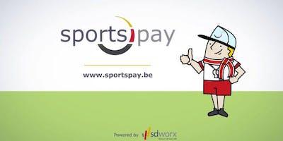 Infosessie SportsPay provincie West-Vlaanderen (Kantoor SD Worx Brugge)