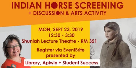 Indian Horse Screening - Discussion + Art Activity tickets