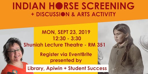 Indian Horse Screening - Discussion + Art Activity