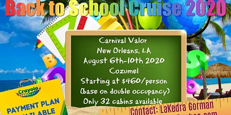 Back to School Cruise 2020 tickets