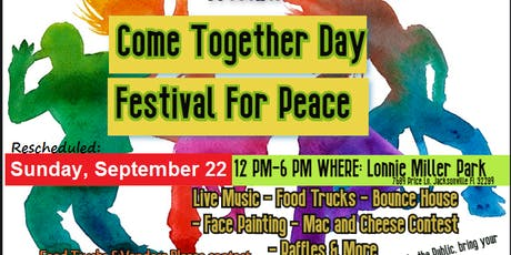 Come Together Day Festival For Peace tickets