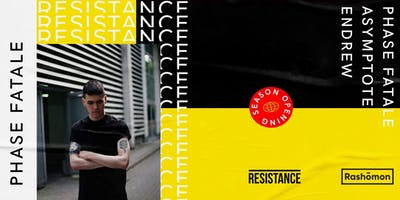 Venerdi 20.09.2019 - Resistance is Techno - Phase Fatale - Rashõmon Club
