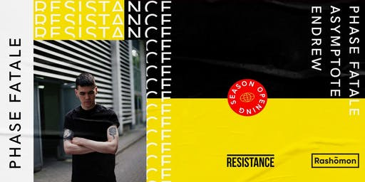 Venerdi 20.09.2019 - Resistance is Techno - Phase Fatale - Rashõmon Club